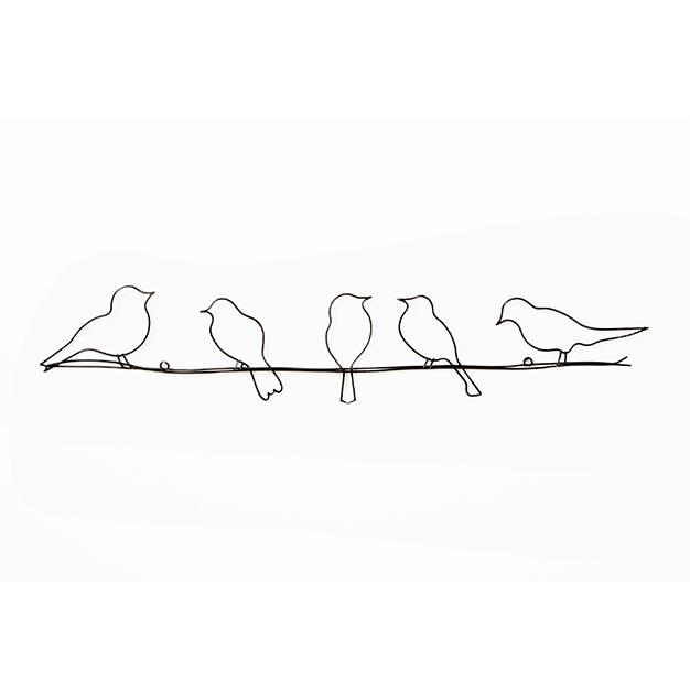 Fém dekoráció 41-221, Birds On A Wire , Wall Art, Graham Brown